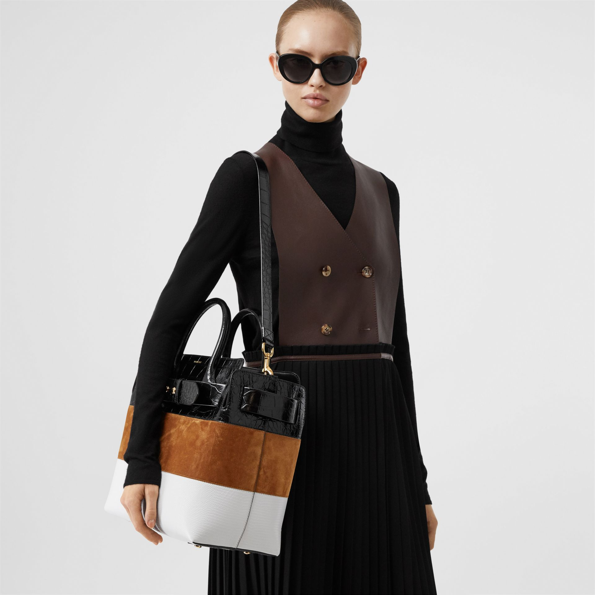 The Medium Suede and Leather Triple Stud Belt Bag in Maple/tan - Women | Burberry United States - gallery image 2