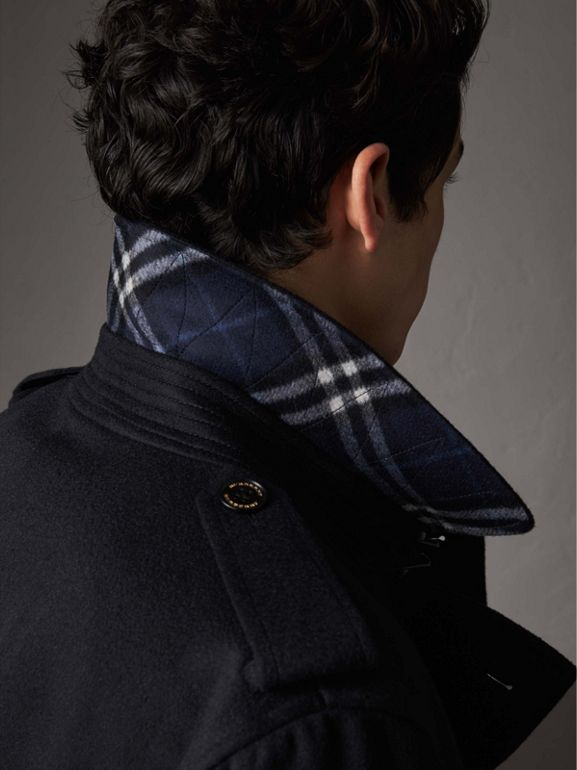 Cashmere Trench Coat in Navy - Men | Burberry United States - cell image 1
