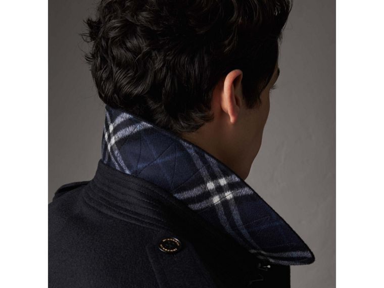 Cashmere Trench Coat in Navy - Men | Burberry Australia - cell image 1