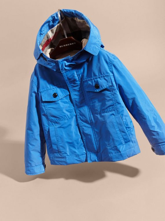 Hooded Field Jacket Bright Hydrangea Blue - cell image 2
