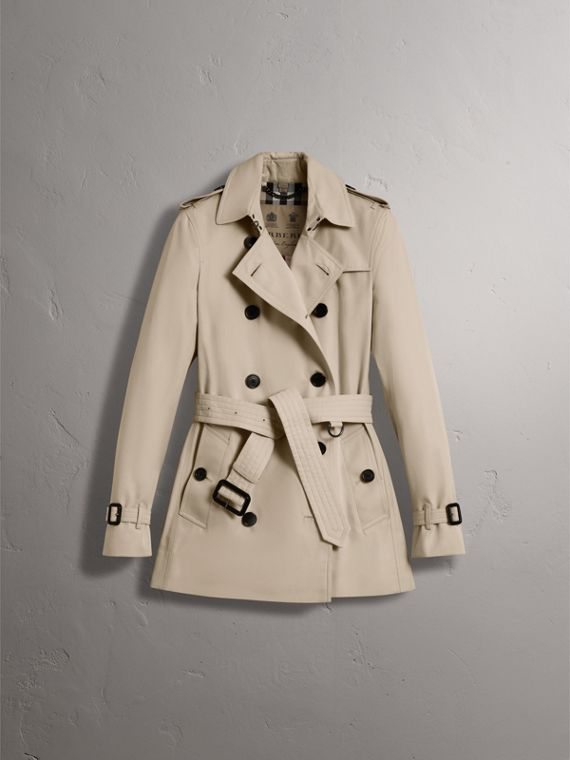 The Kensington – Short Trench Coat in Stone - Women | Burberry - cell image 3