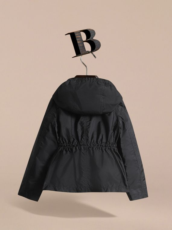 Hooded Packaway Technical Jacket in Black - Girl | Burberry Hong Kong - cell image 3