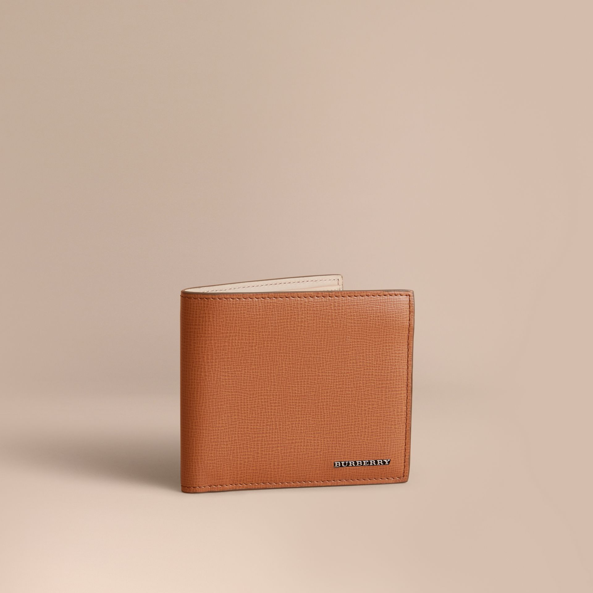 London Leather International Bifold Wallet in Tan | Burberry - gallery image 1