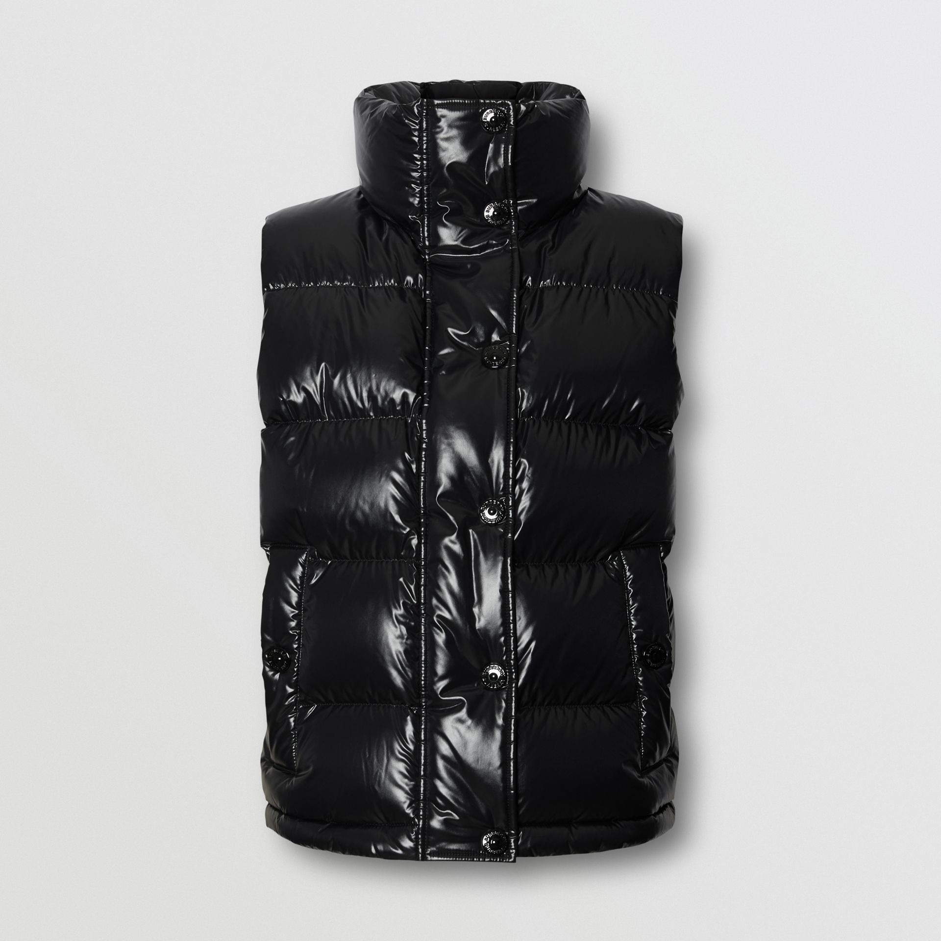 Logo Graphic Puffer Gilet in Black - Women | Burberry - gallery image 3