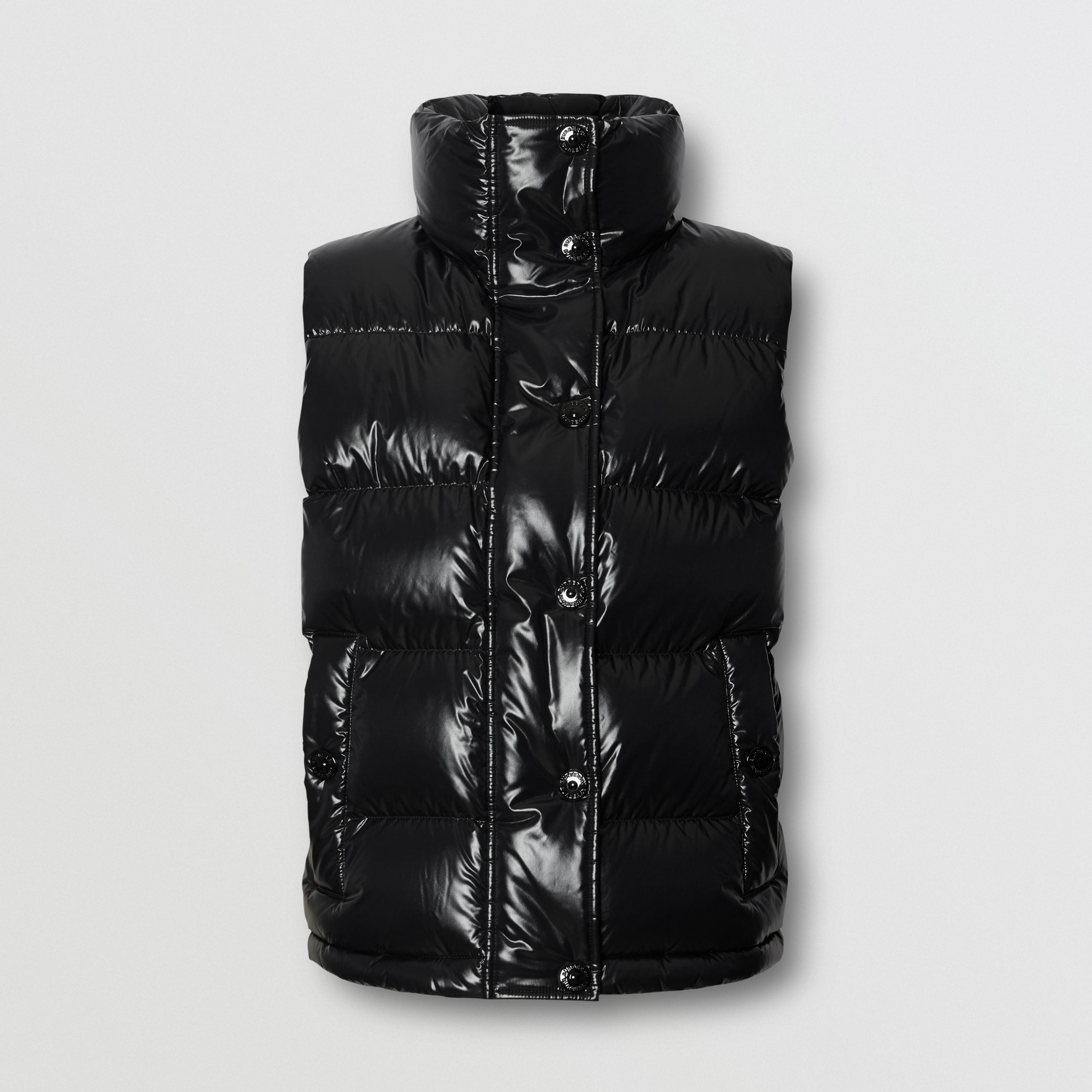 Logo Graphic Puffer Gilet in Black - Women | Burberry - 4