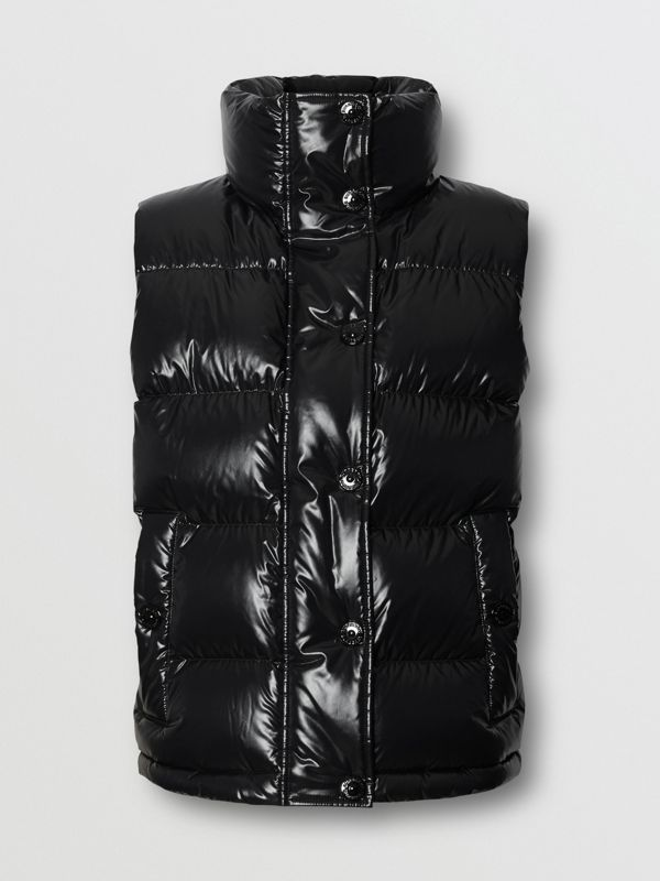 Logo Graphic Puffer Gilet in Black - Women | Burberry - cell image 3