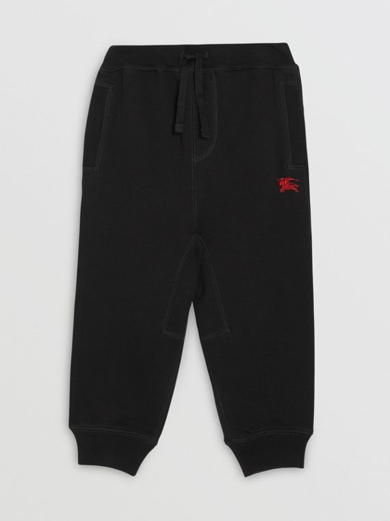 Cotton Jersey Trackpants in Black