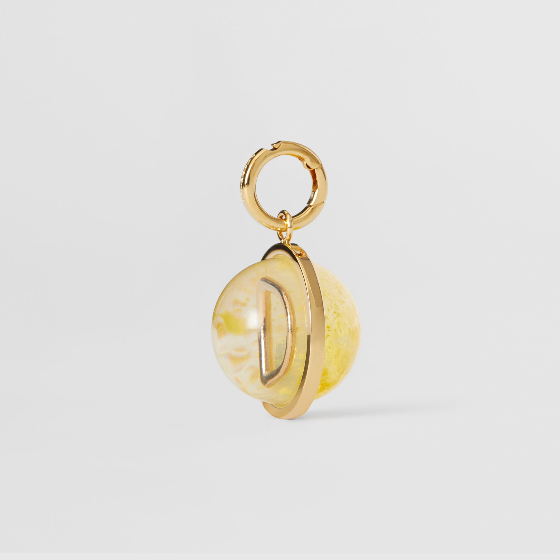 Marbled Resin 'D' Alphabet Charm in Gold/mimosa - Women | Burberry - gallery image 5