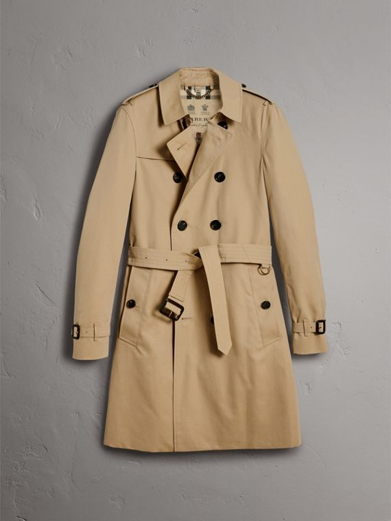The Chelsea – Long Trench Coat in Honey - Men | Burberry - cell image 3