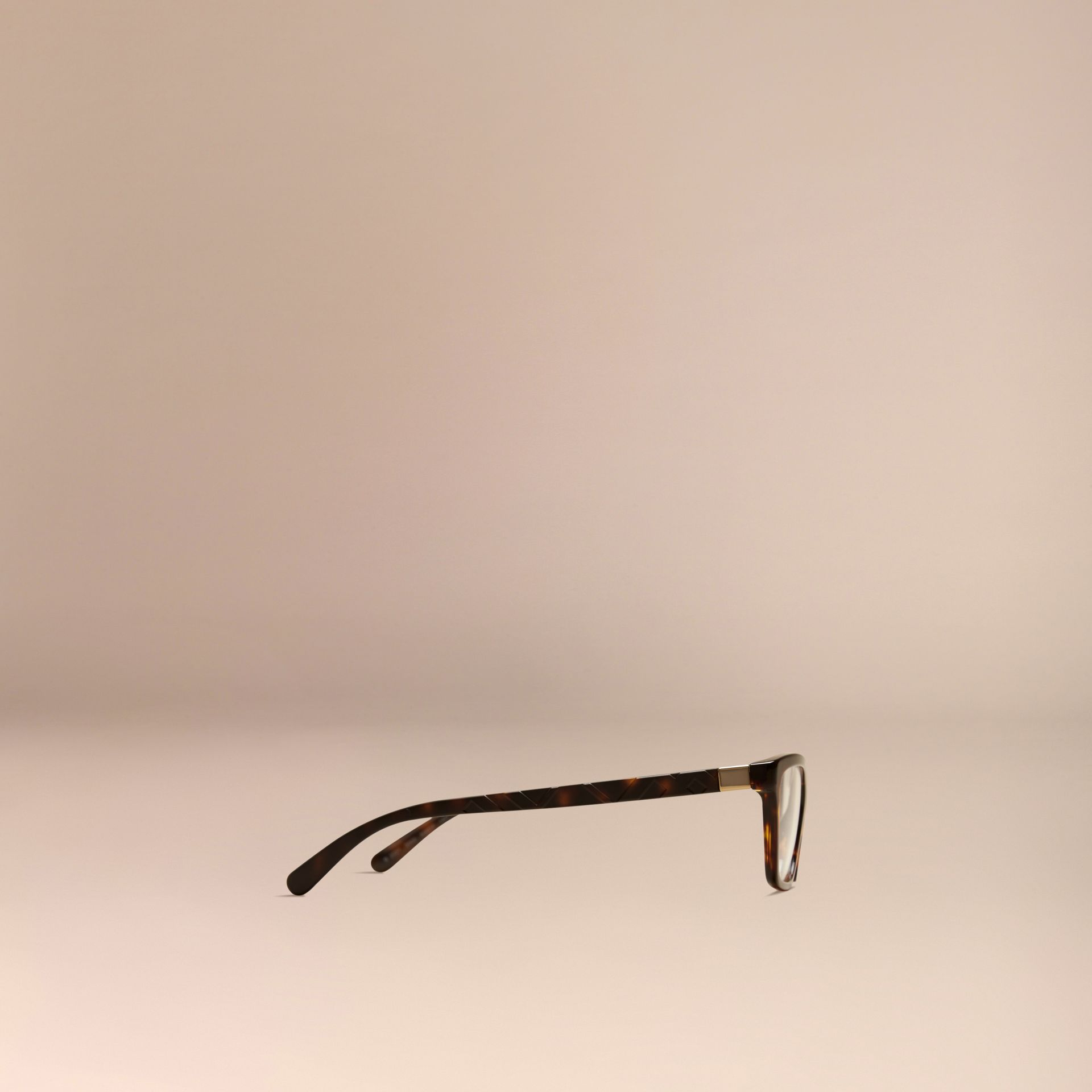 Check Detail Cat-eye Optical Frames Tortoiseshell - gallery image 4