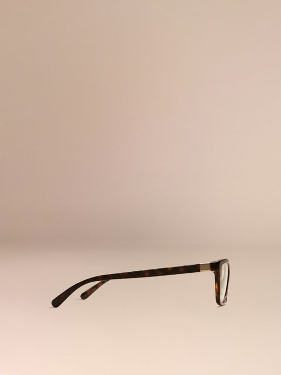 Tortoiseshell Check Detail Cat-eye Optical Frames Tortoiseshell - cell image 3