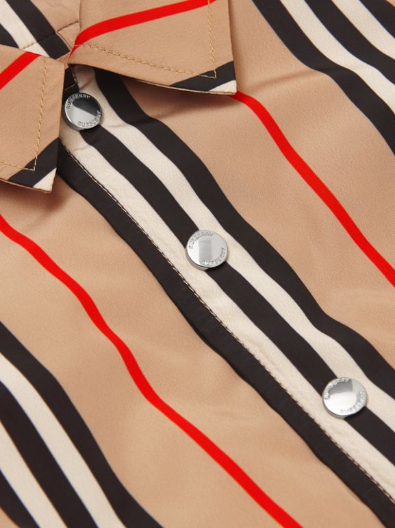Quilt-lined Icon Stripe Jacket in Archive Beige - Children | Burberry United Kingdom - cell image 1