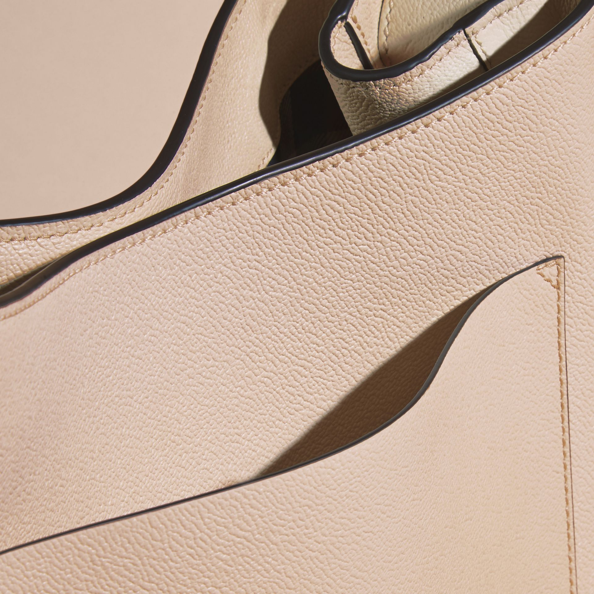 Limestone Textured Leather Shoulder Bag Limestone - gallery image 6