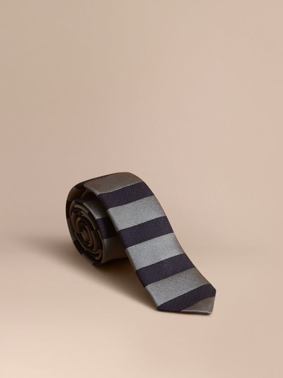 Slim Cut Striped Silk Wool Tie - Men | Burberry