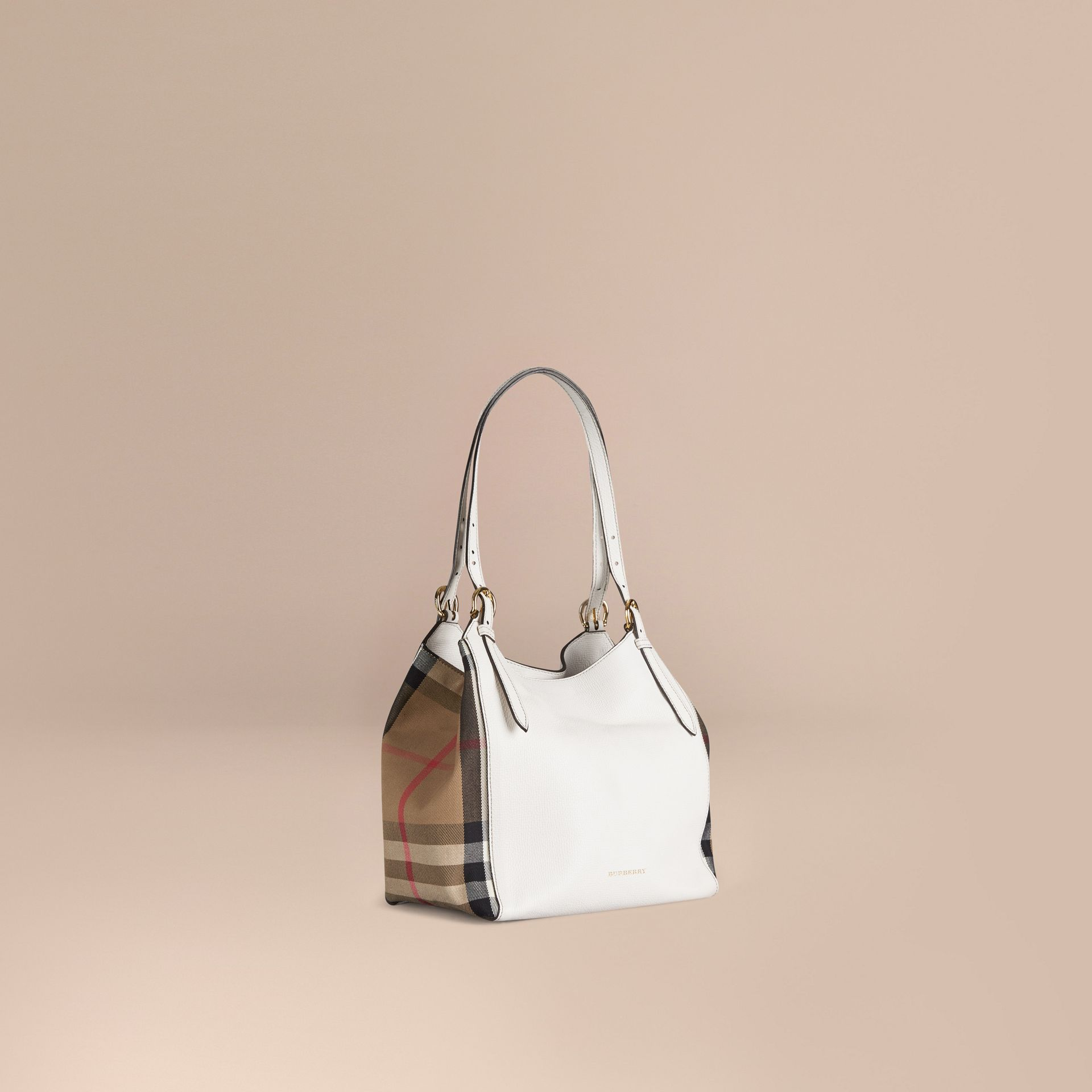 Naturel Petit sac The Canter en cuir avec motif House check Naturel - photo de la galerie 1