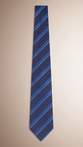 Classic Cut Striped Silk Tie