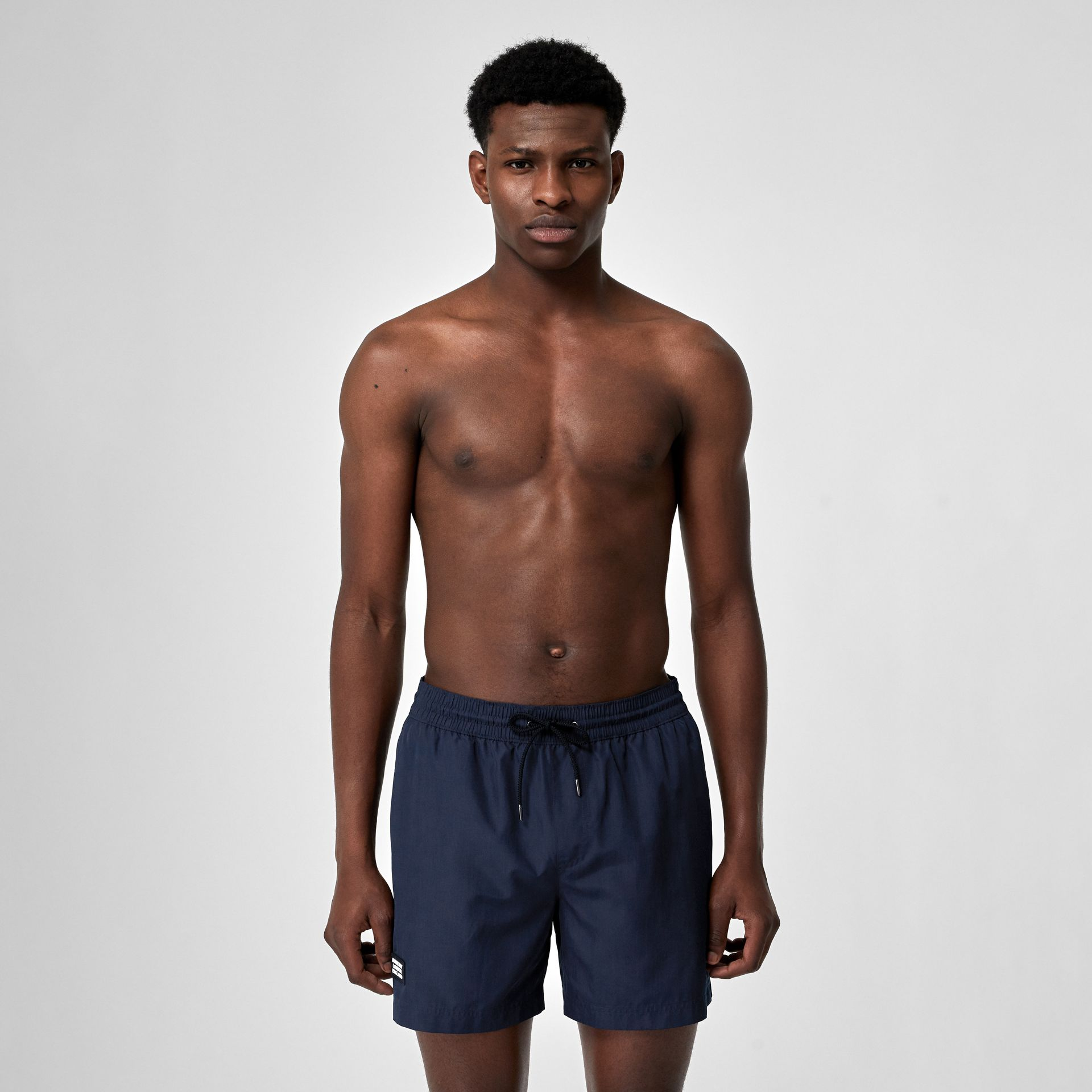 Logo Detail Drawcord Swim Shorts in True Navy - Men | Burberry Canada - gallery image 0