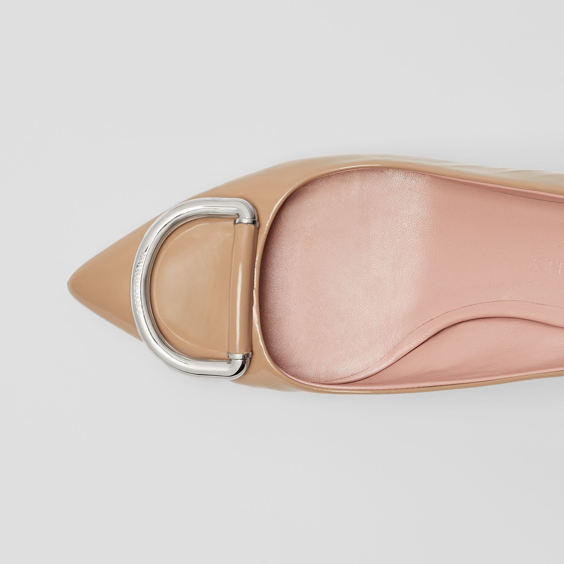 The Leather D-ring Slingback Pump in Nude Blush - Women | Burberry Hong Kong - gallery image 1