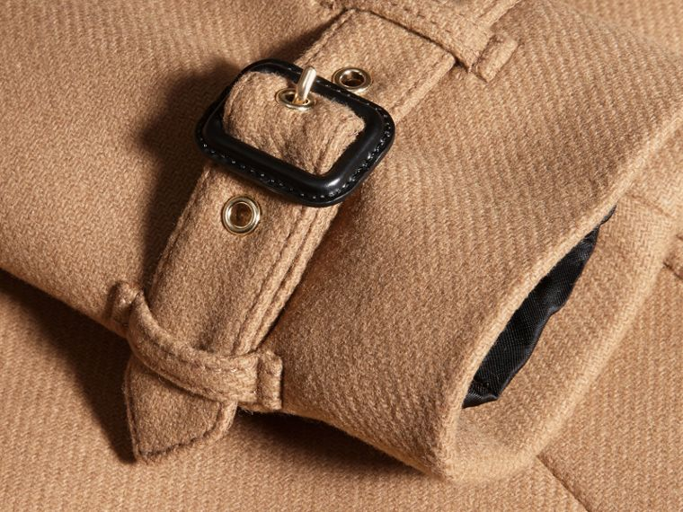 Camel Technical Wool Cashmere Funnel Neck Coat Camel - cell image 1
