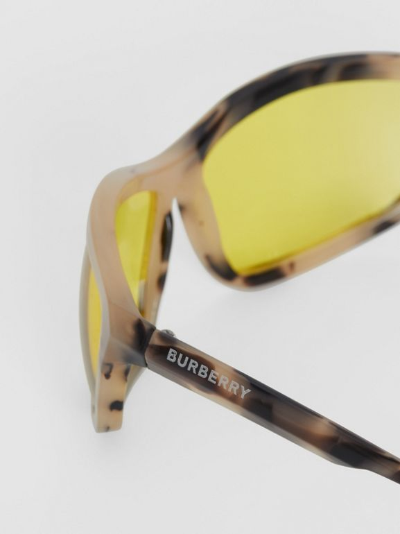 Wrap Frame Sunglasses in Yellow - Men | Burberry Hong Kong - cell image 1