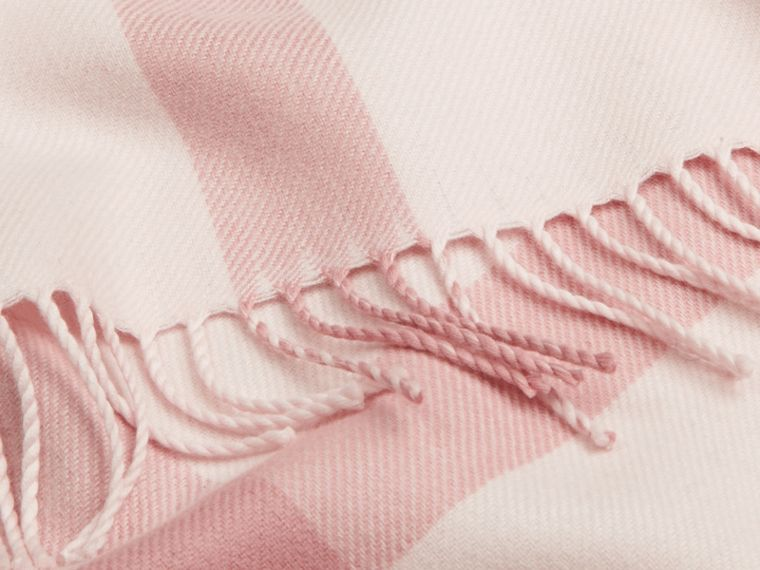 Check Merino Wool Baby Blanket in Powder Pink - cell image 1