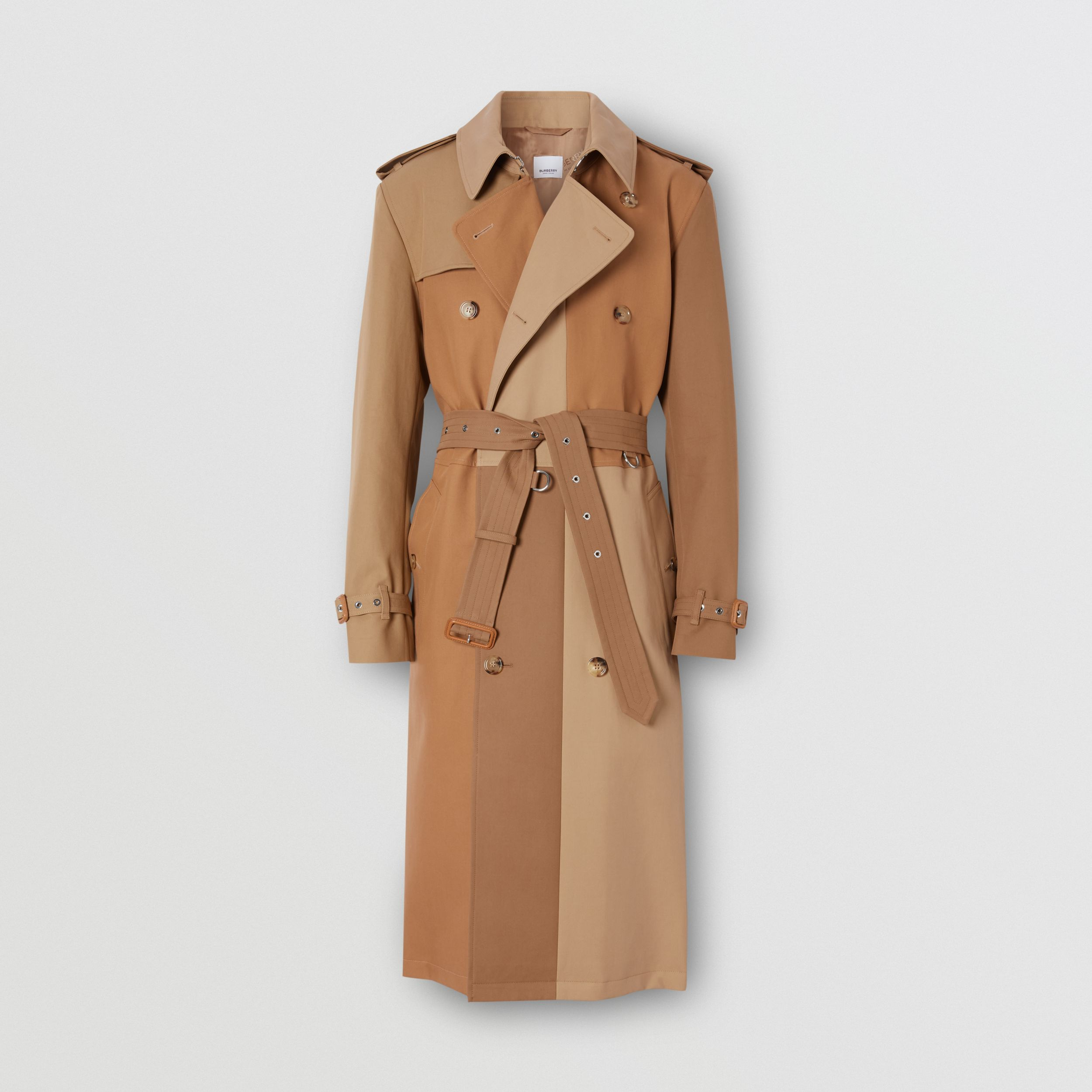 Panelled Cotton Trench Coat in Warm Camel - Men | Burberry - 4