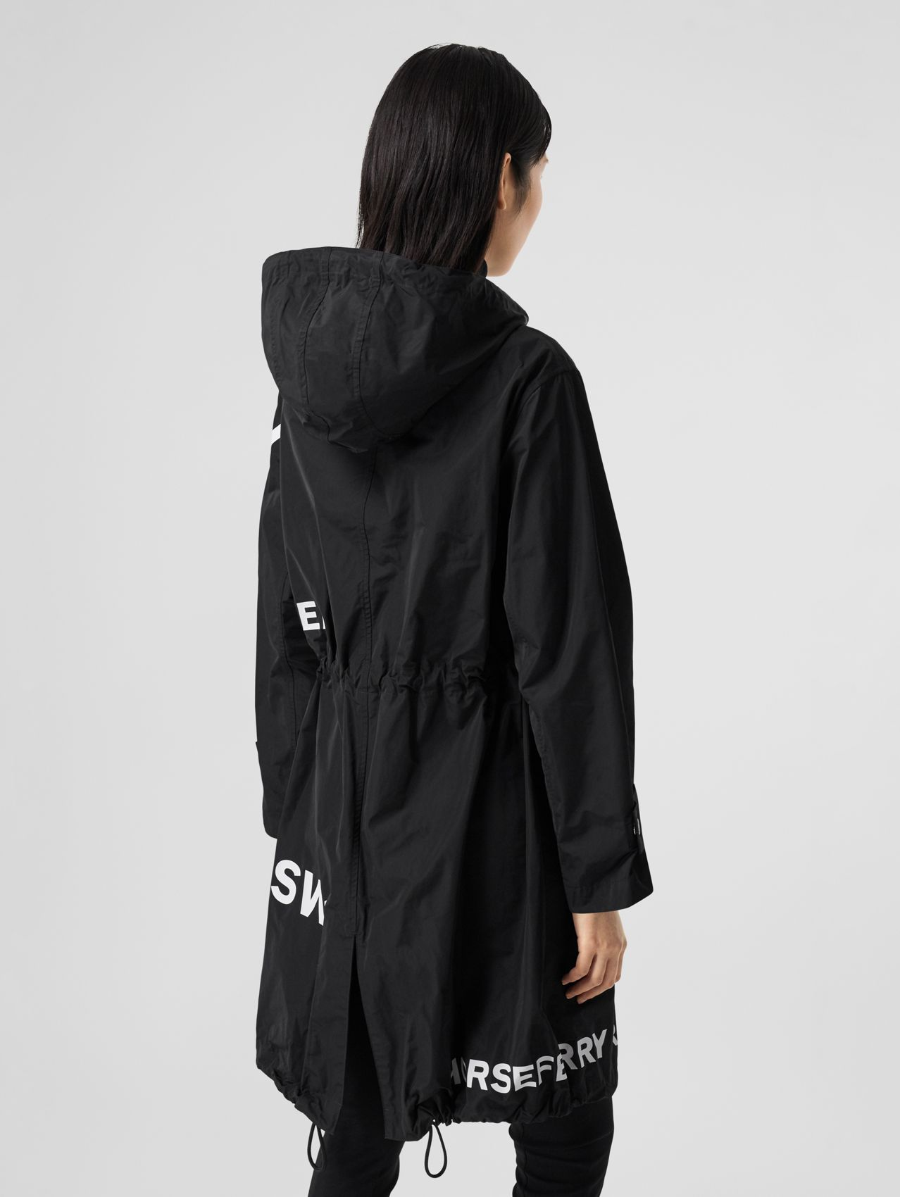 Parka en nailon con estampado Horseferry (Negro)