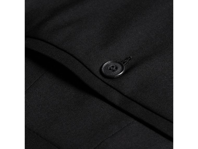 Slim Fit Wool Trousers in Black - Men | Burberry United States - cell image 1