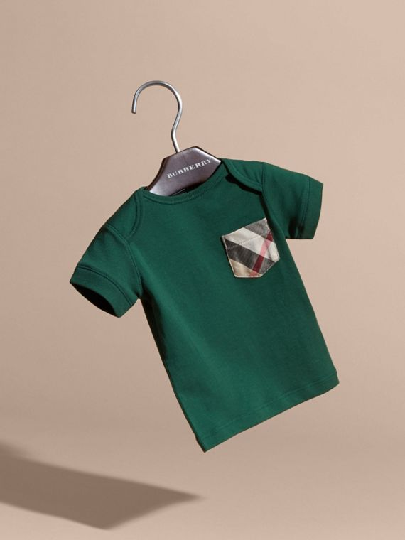Forest green Check Pocket T-Shirt Forest Green - cell image 2