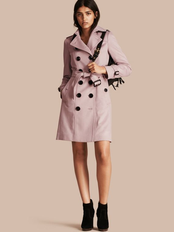 Sandringham Fit Cashmere Trench Coat Pale Orchid