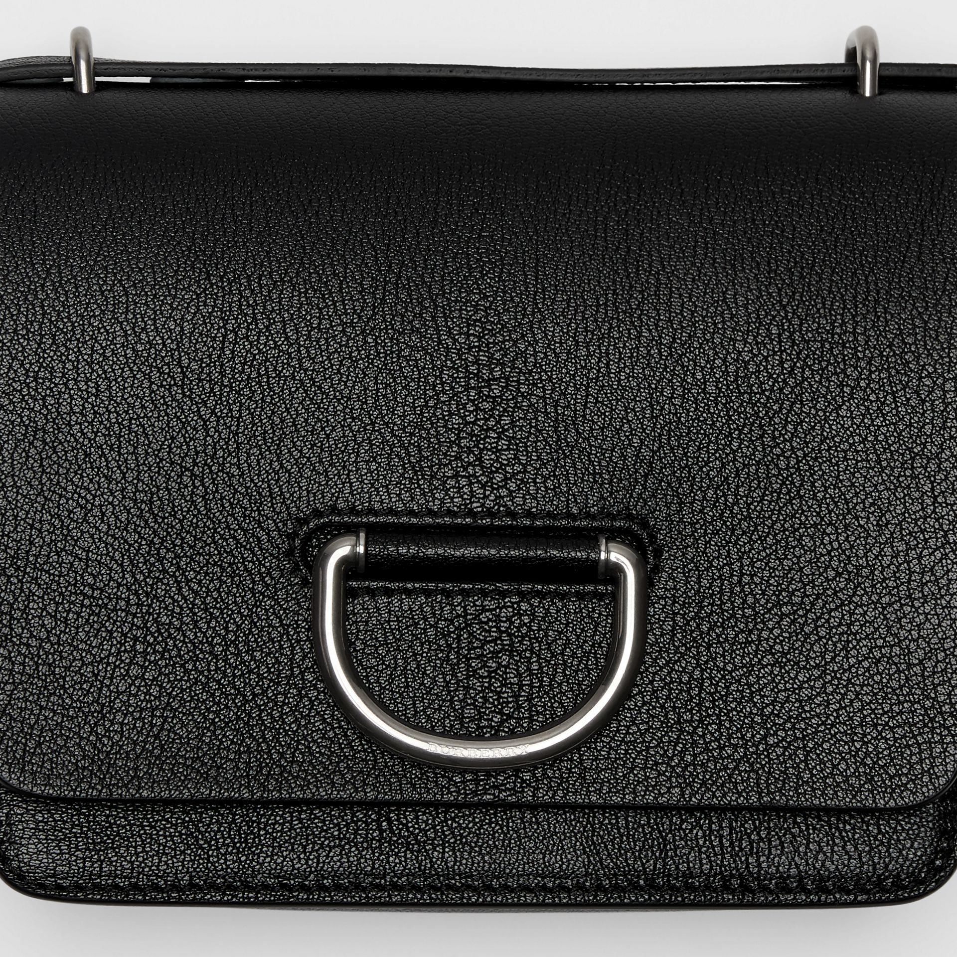 The Small Leather D-ring Bag in Black - Women | Burberry - gallery image 1