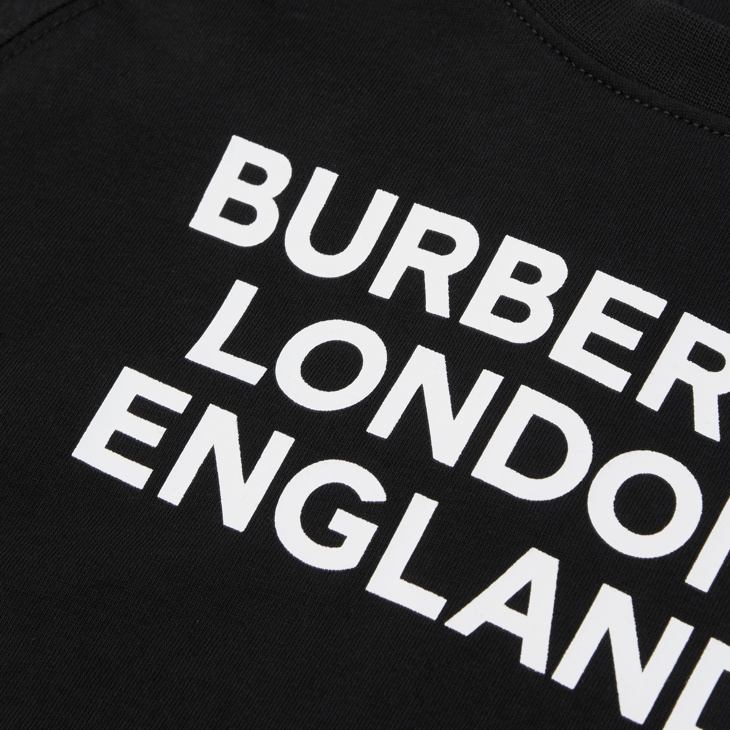 Long-sleeve Logo Print Cotton Top in Black - Children | Burberry - 2
