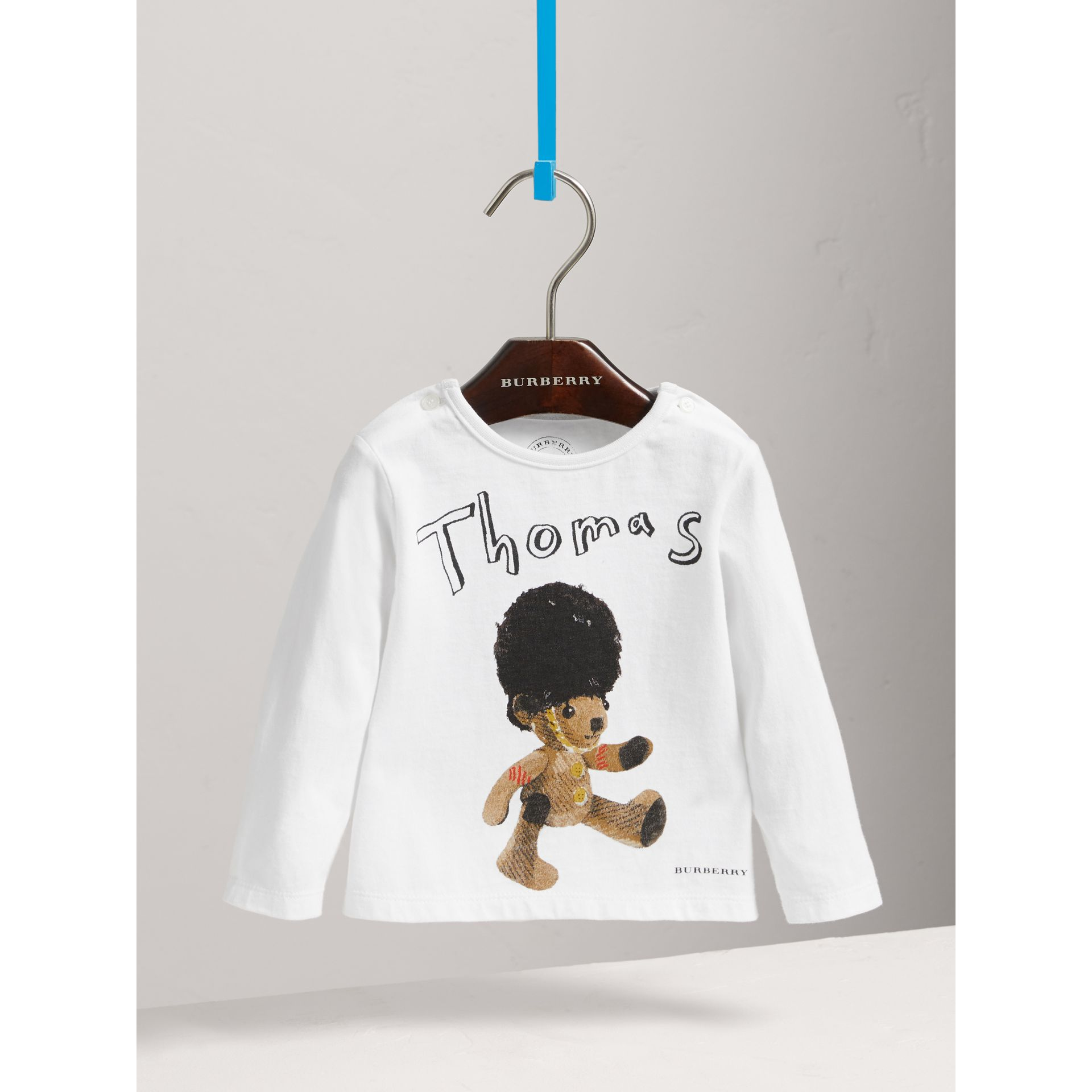 Thomas Bear Guardsman Print Cotton Top in White - Children | Burberry - gallery image 0