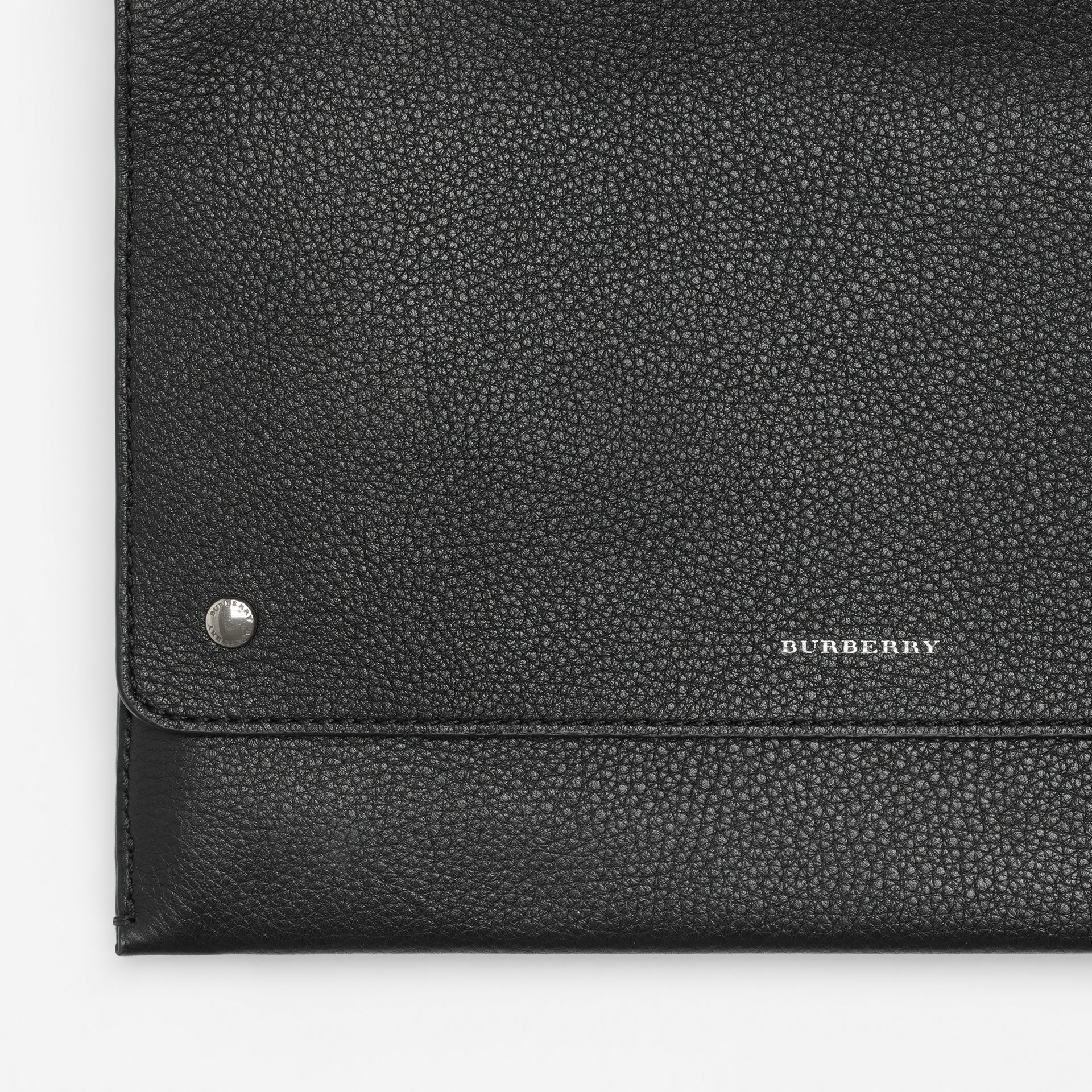 Leather Envelope Crossbody Bag in Black - Women | Burberry United States - gallery image 1