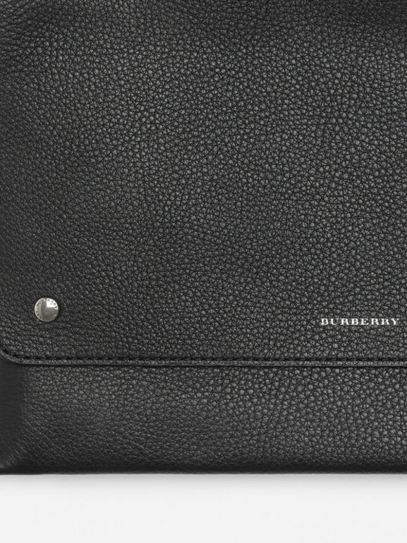 Leather Envelope Crossbody Bag in Black - Women | Burberry United States - cell image 1