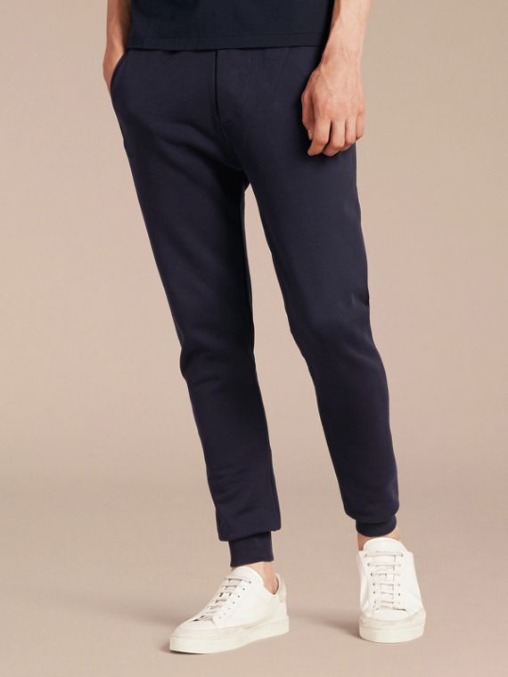 Cotton Sweatpants in Navy - Men | Burberry Singapore