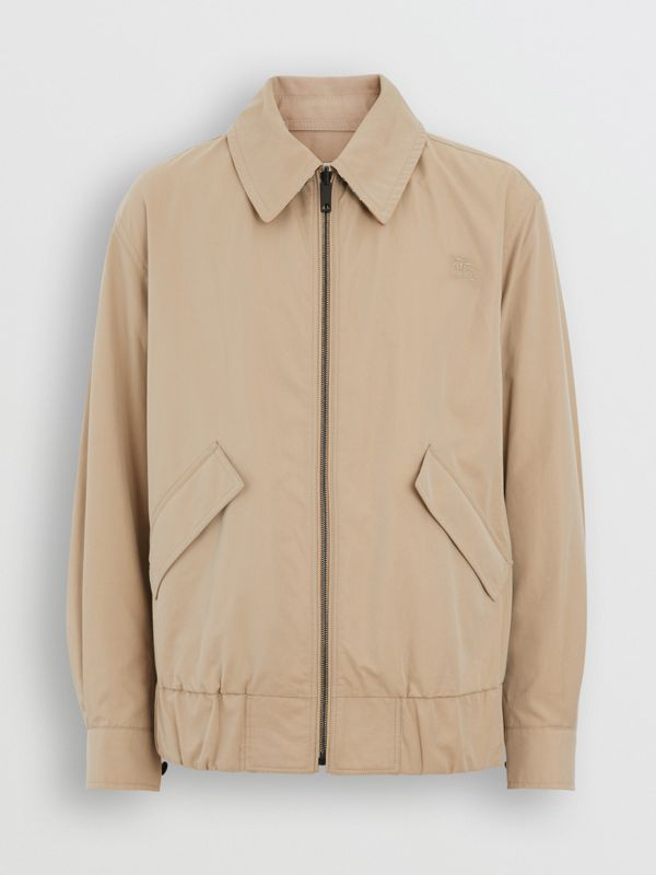 Reversible Gabardine and Check Harrington Jacket in Honey - Men | Burberry United Kingdom - cell image 3