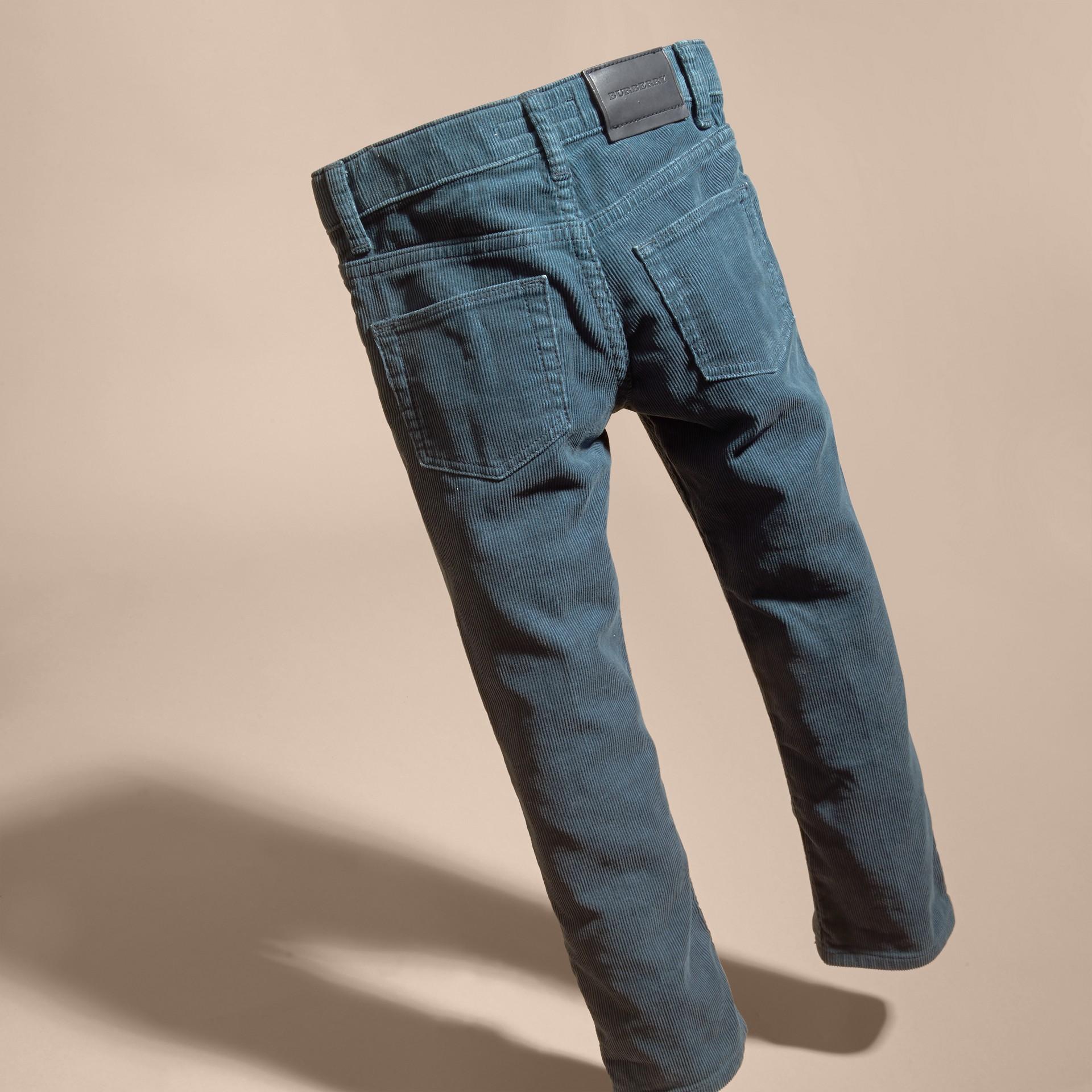Blu minerale Jeans in corduroy stretch Blu Minerale - immagine della galleria 4