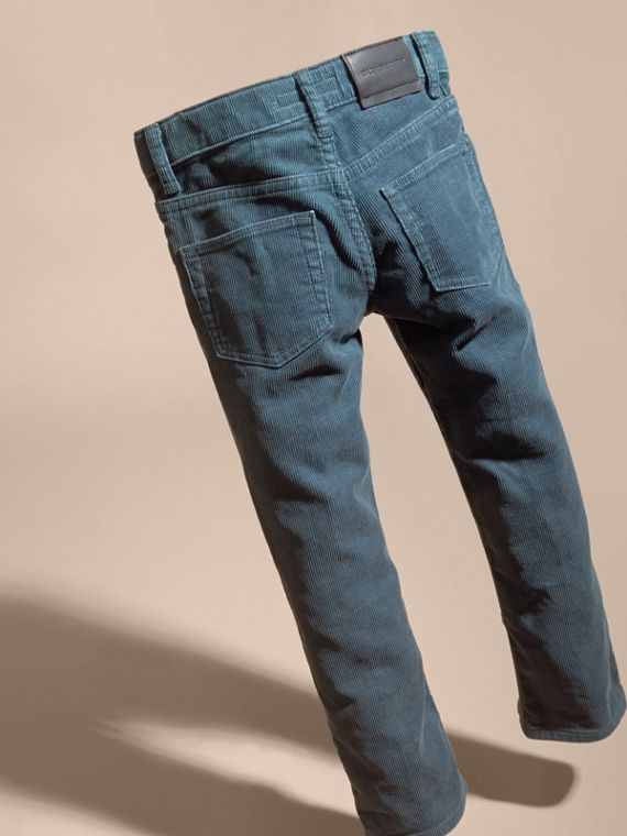 Mineral blue Stretch Corduroy Jeans Mineral Blue - cell image 3