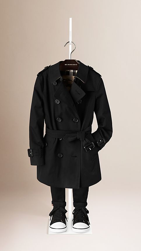 Black The Sandringham - Heritage Trench Coat - Image 1