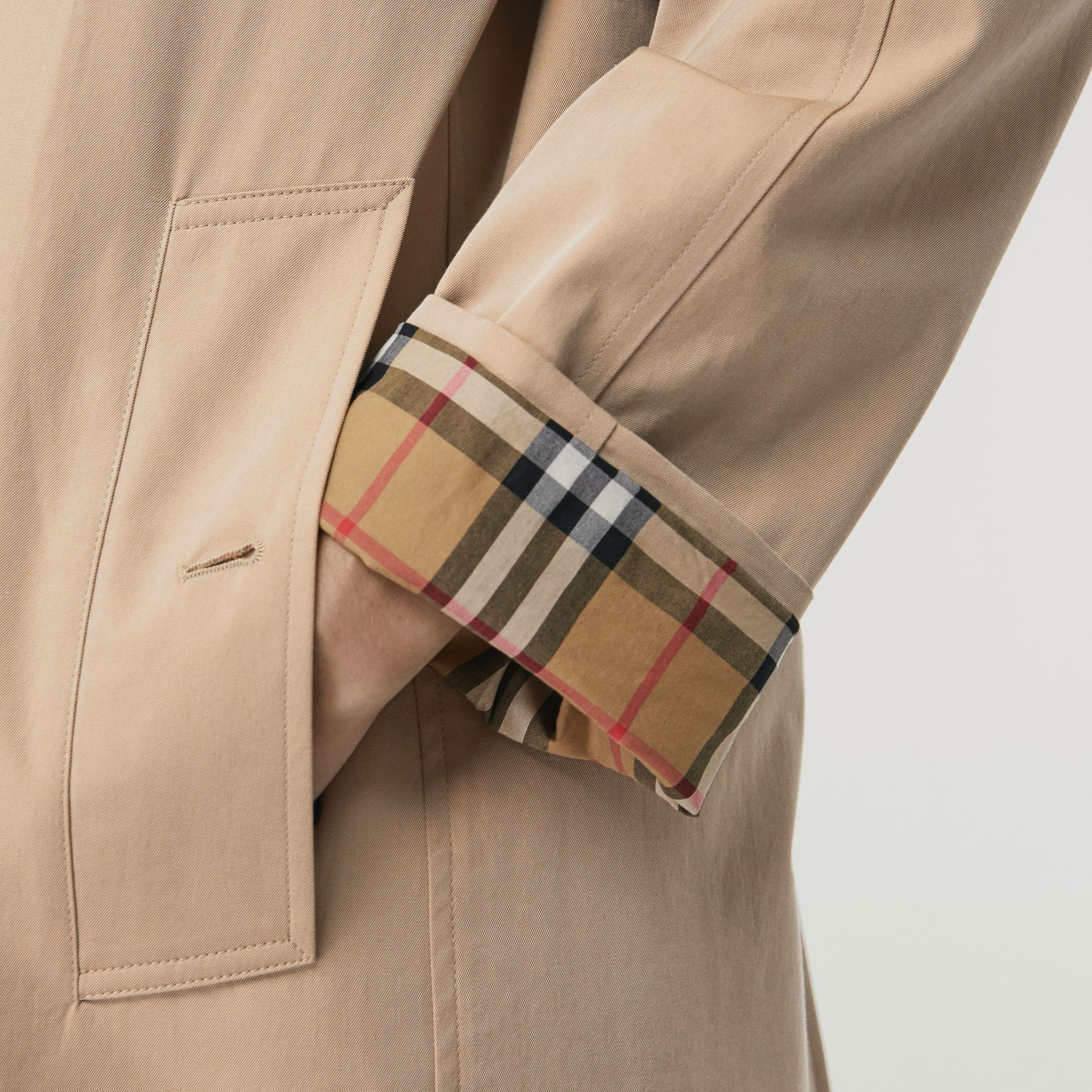 The Camden Car Coat in Honey - Women | Burberry - gallery image 4