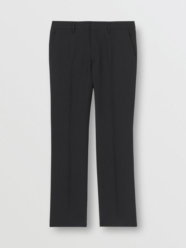 Classic Fit Double-faced Wool Crepe Tailored Trousers in Navy - Men | Burberry - cell image 3