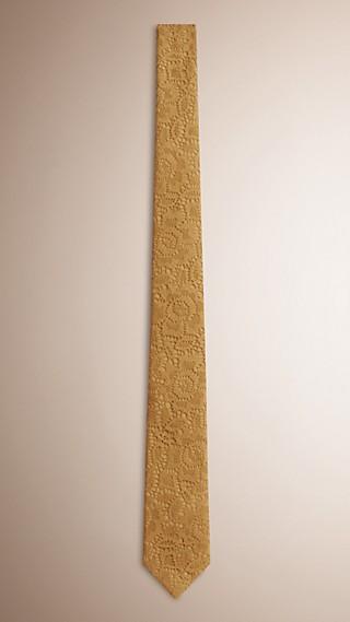 Cravate étroite en dentelle italienne
