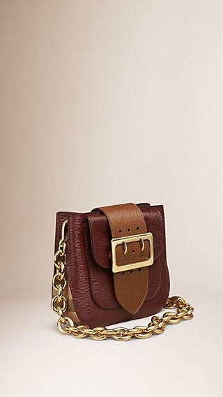 The Small Belt Bag – Square in Leather and House Check