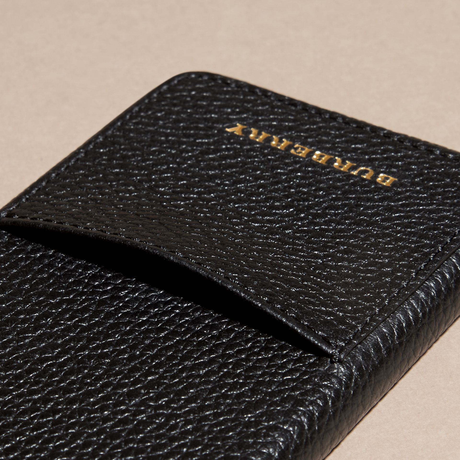 Grainy Leather iPhone 6 Case in Black | Burberry Australia - gallery image 2