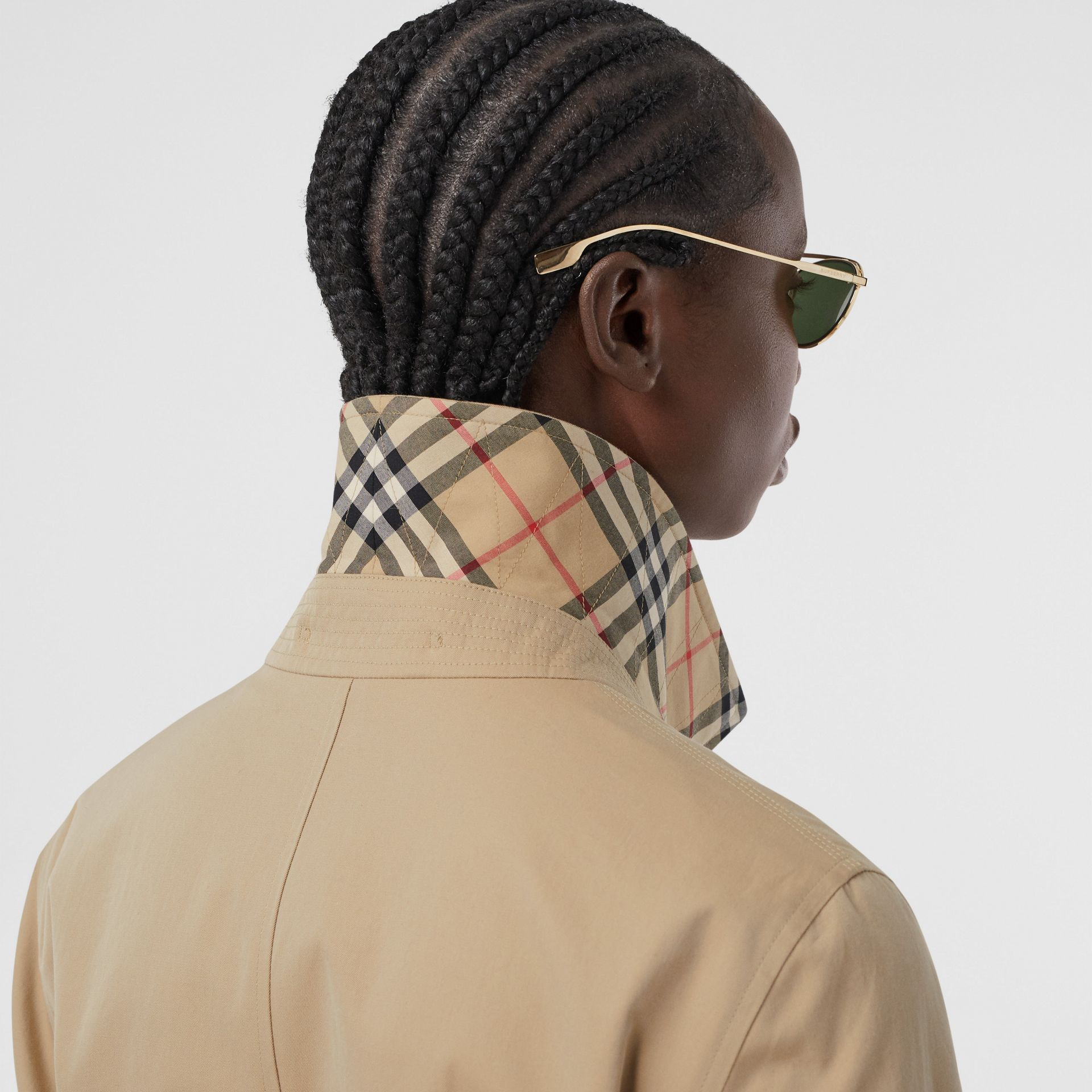 Tropical Gabardine Car Coat in Honey - Women | Burberry - gallery image 1