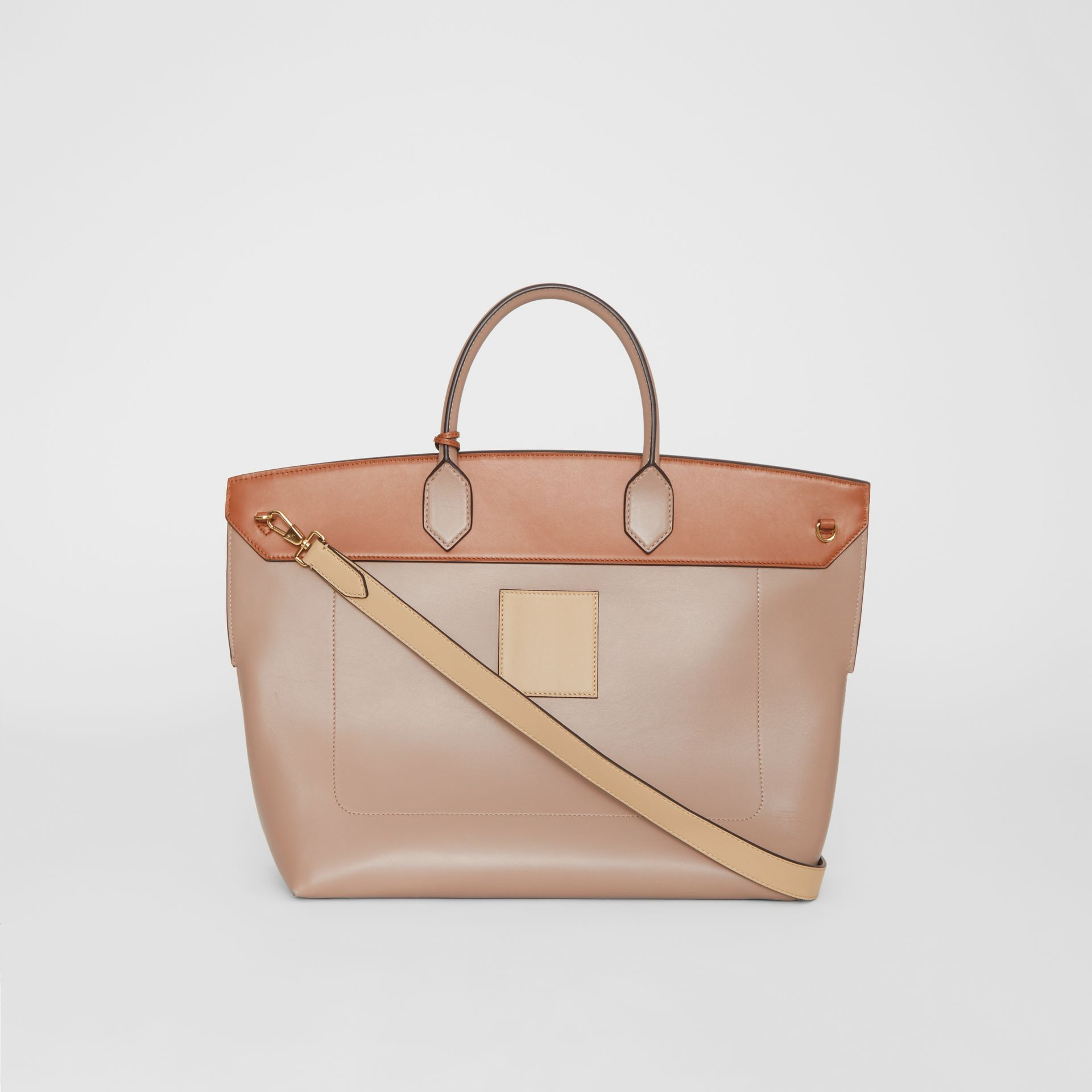 Leather Society Top Handle Bag in Pale Mink - Women | Burberry - gallery image 6