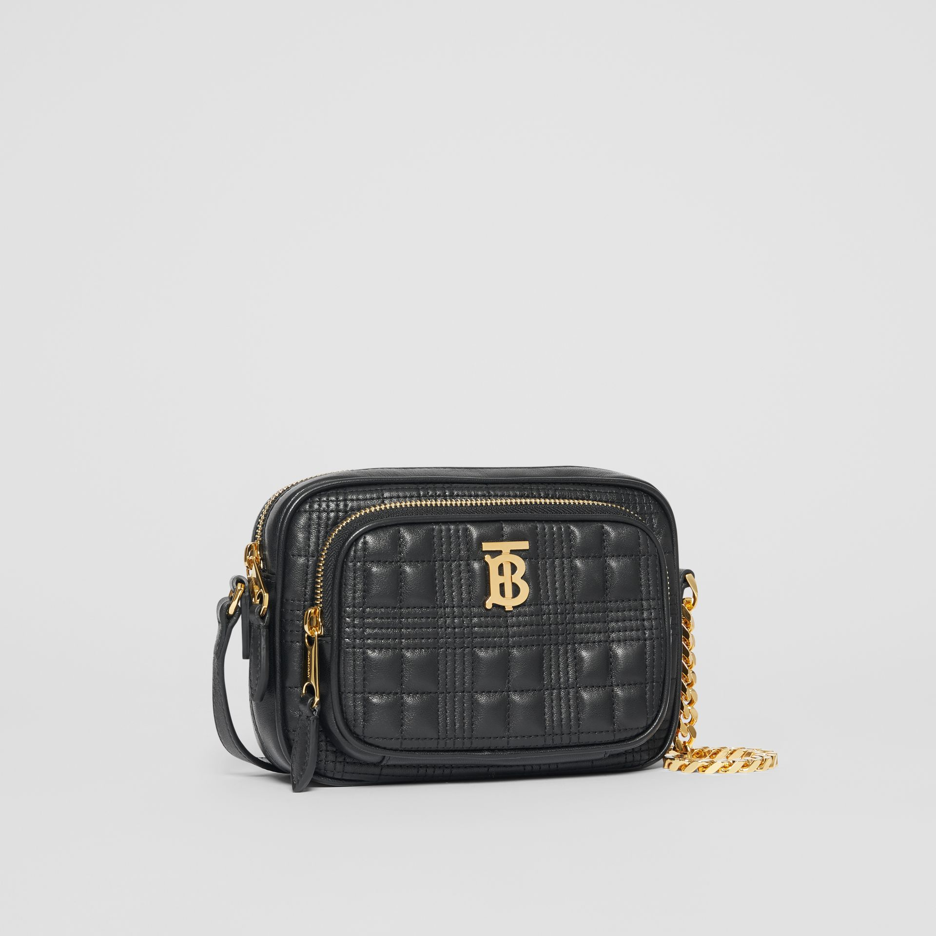 Small Quilted Lambskin Camera Bag in Black - Women | Burberry - gallery image 4