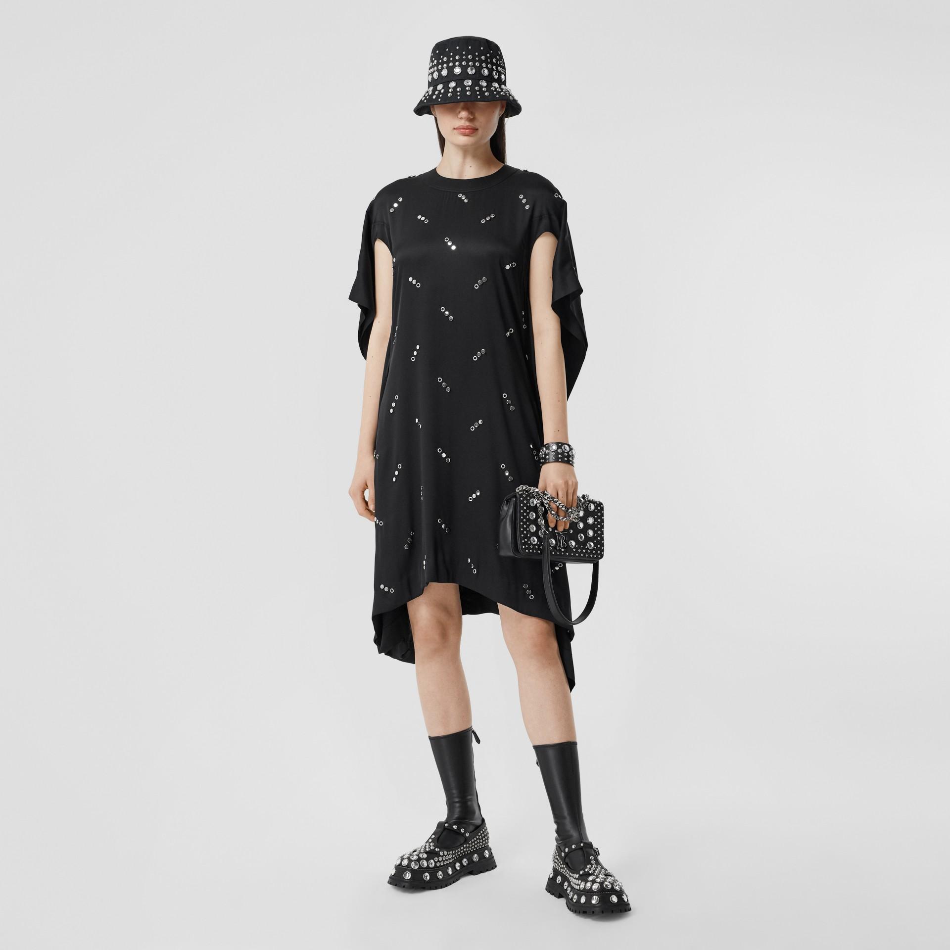 Small Embellished Lambskin Lola Bag in Black - Women | Burberry - gallery image 5