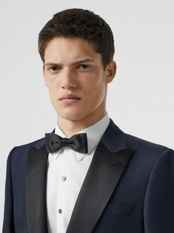 Classic Fit Wool Silk Tuxedo in Navy - Men | Burberry Australia - cell image 1